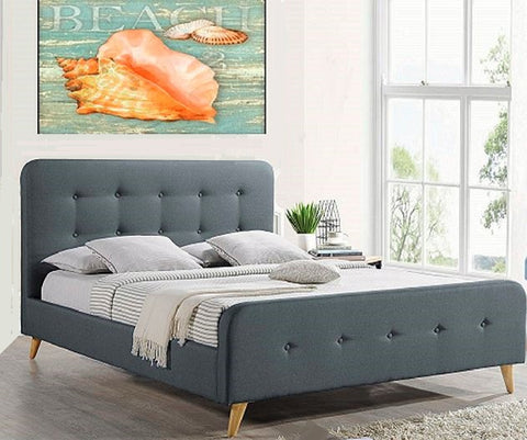 Oslo Sleigh Bed - Shannen Living