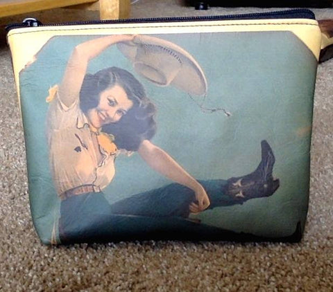 Cowgirl Cosmetic Make-Up Bag