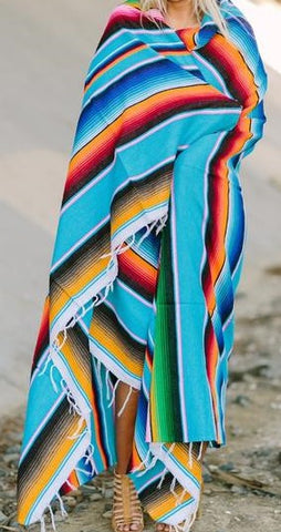 SERAPE MEXICAN OVERSIZED BLANKET (KING)