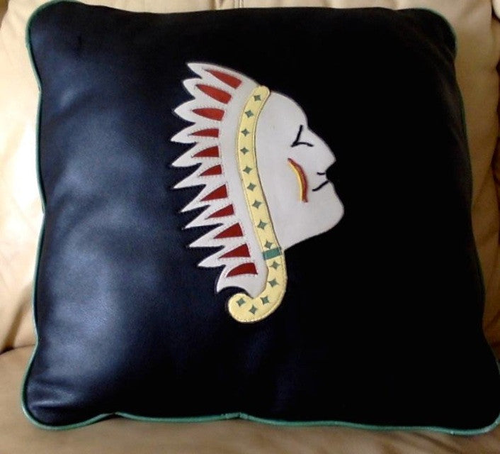 Chief Leather Pillow - Remi & Co.