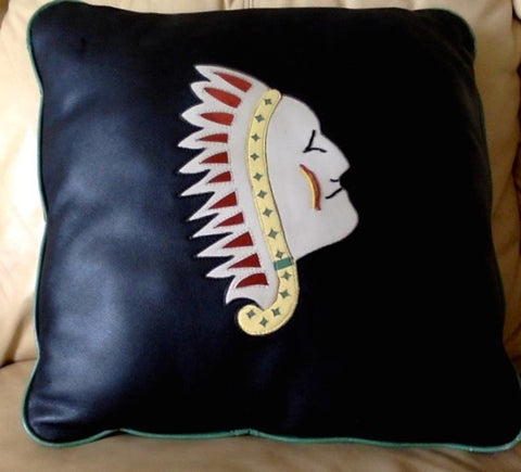 Chief Leather Pillow