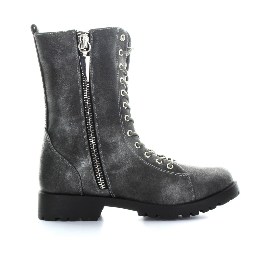 Mr. Zipper Lace-Up Boot
