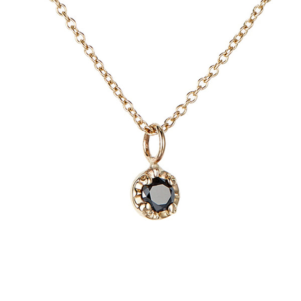 Prong Necklace, Black Diamond