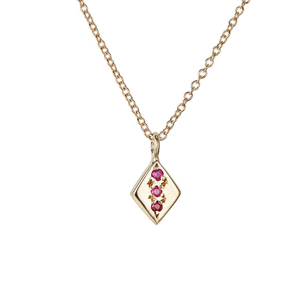 Rhombus Necklace, Ruby