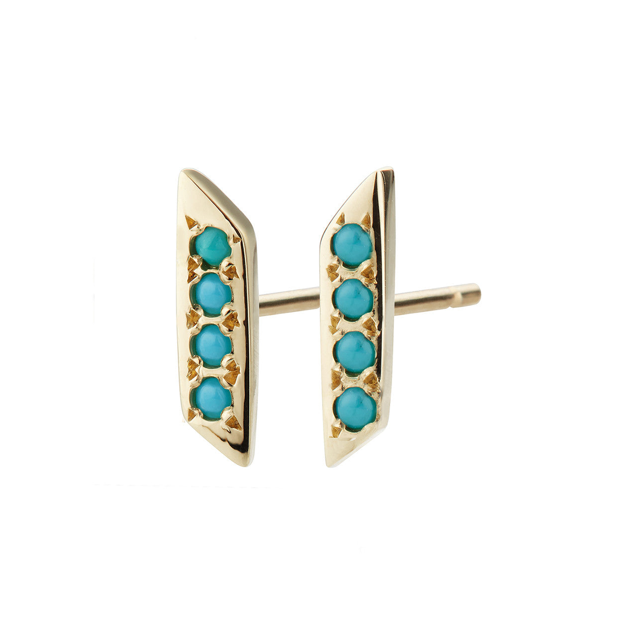 Parallelogram Earring, Turquoise