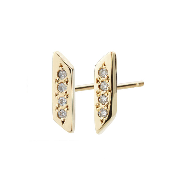 Parallelogram Earring, White Diamond