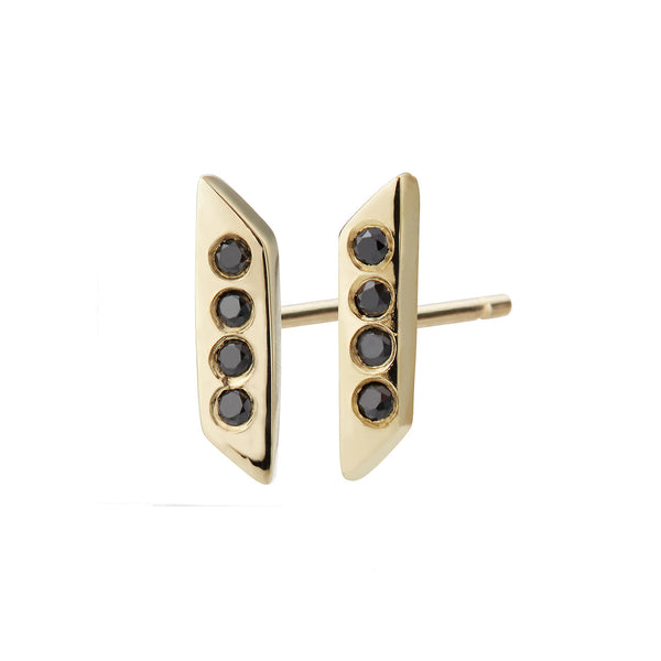 Parallelogram Earring, Black Diamond