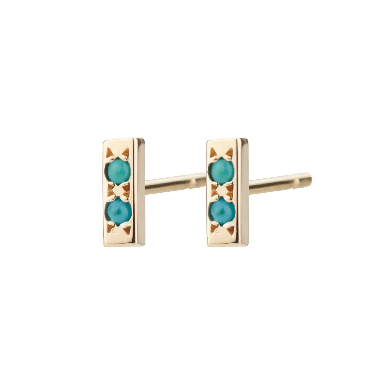 Bar Studs, Turquoise