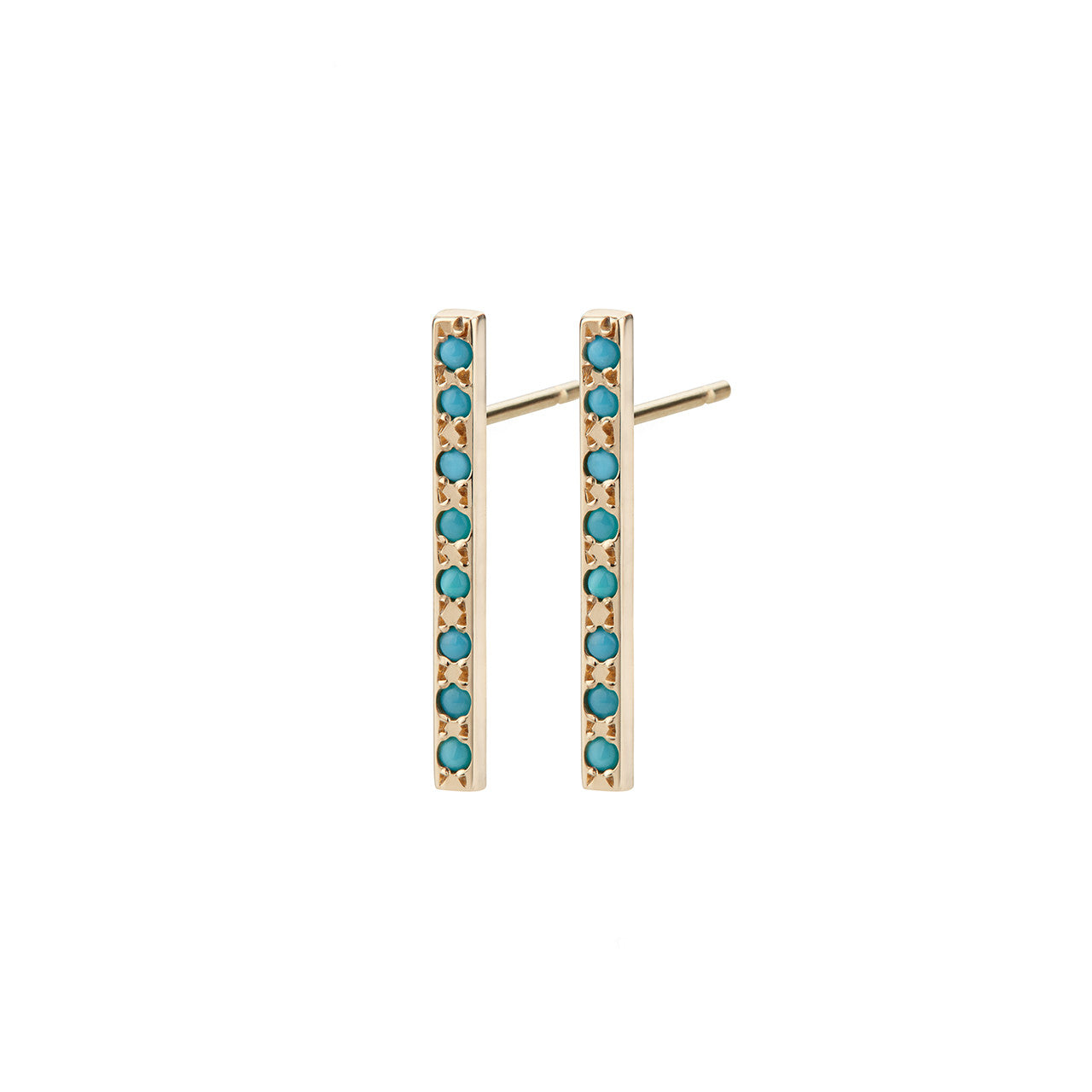 Maya Azul Long Bar Studs