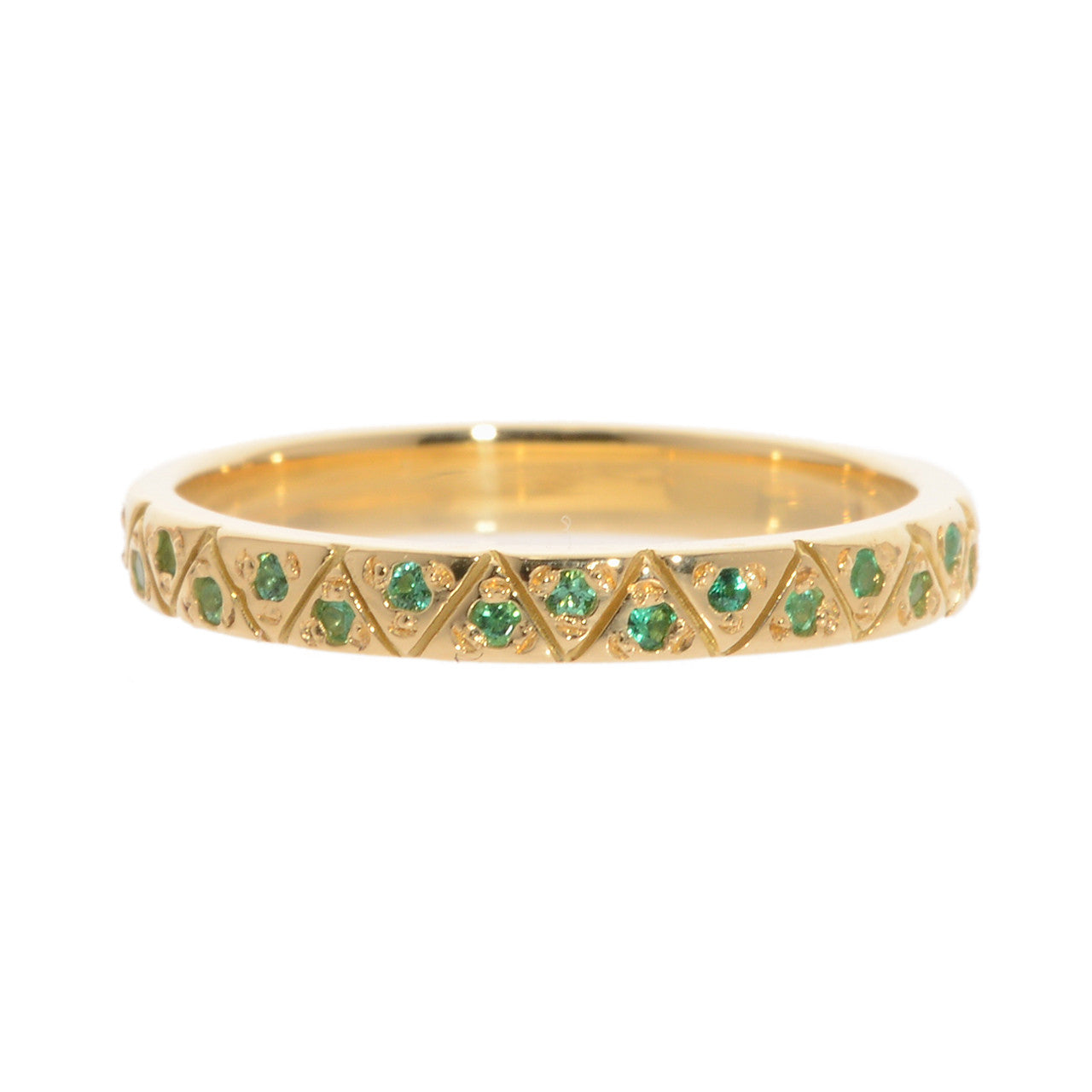Gaia Eternity Band, Emerald