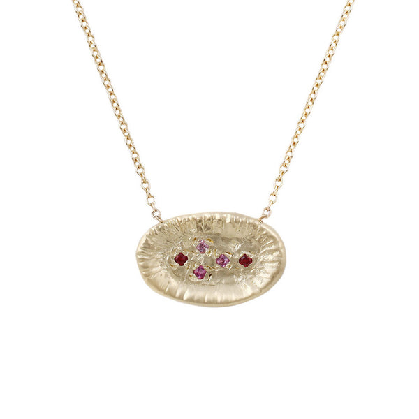 Sunburst necklace-ruby