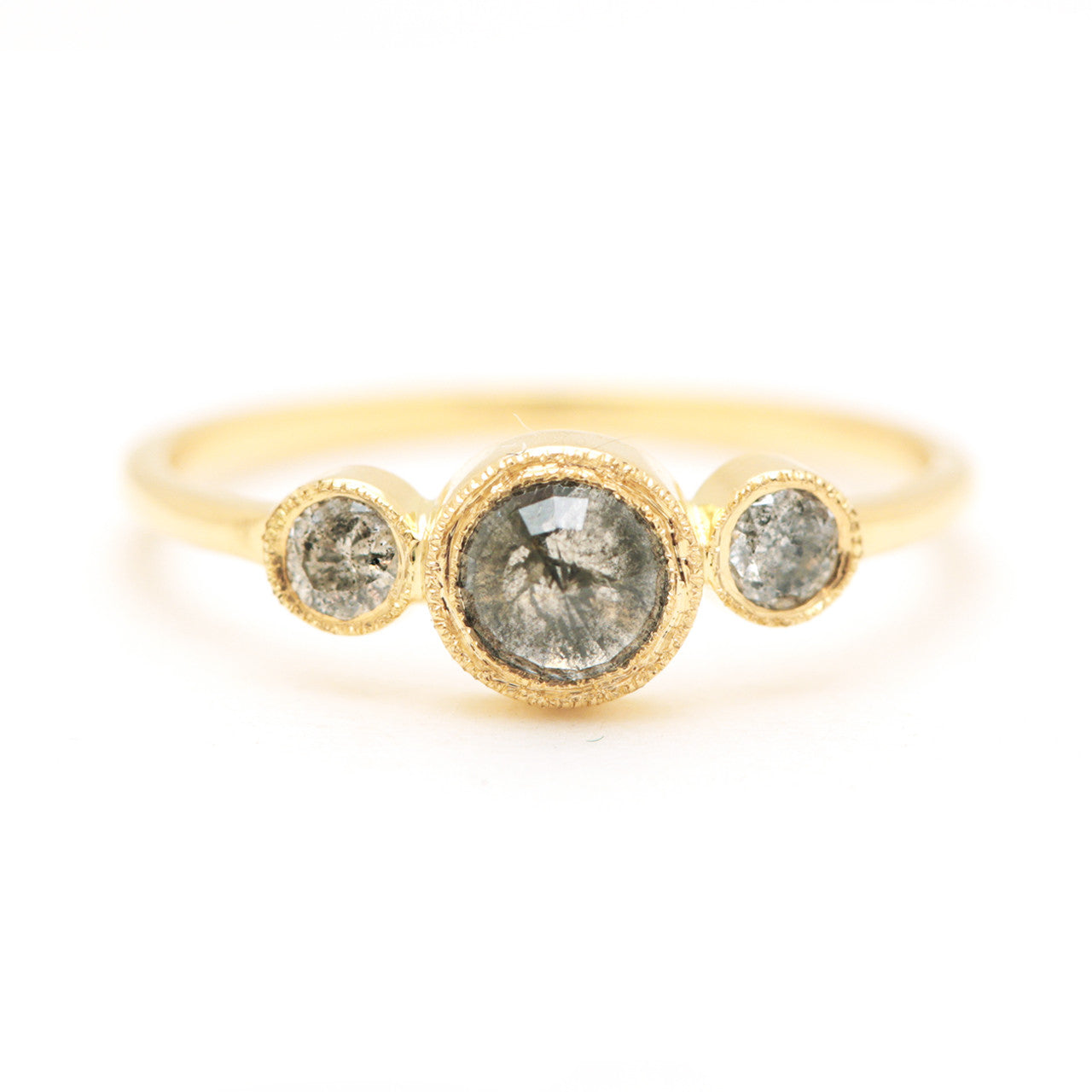 Titania Ring-Grey Diamond