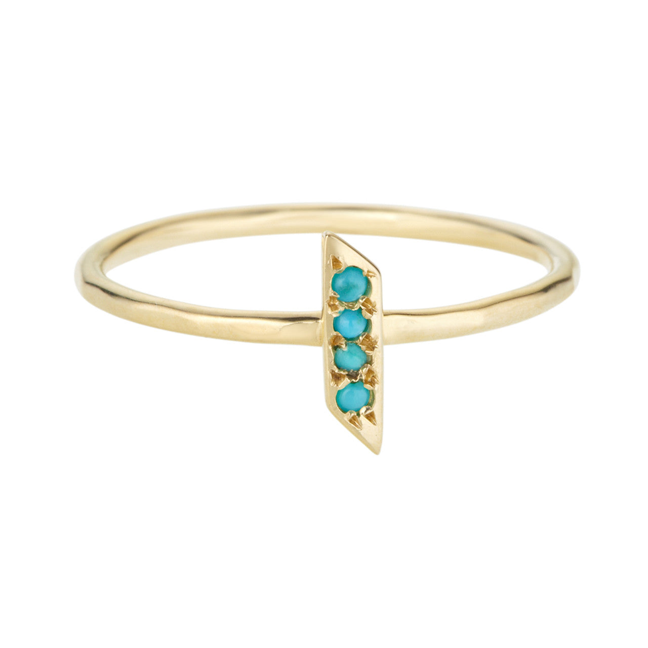 Parallelogram Ring, Turquoise