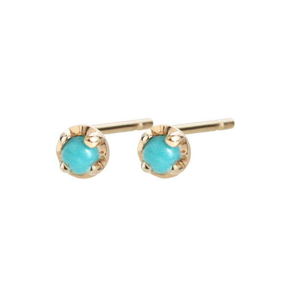 Prong Studs Large, Turquoise