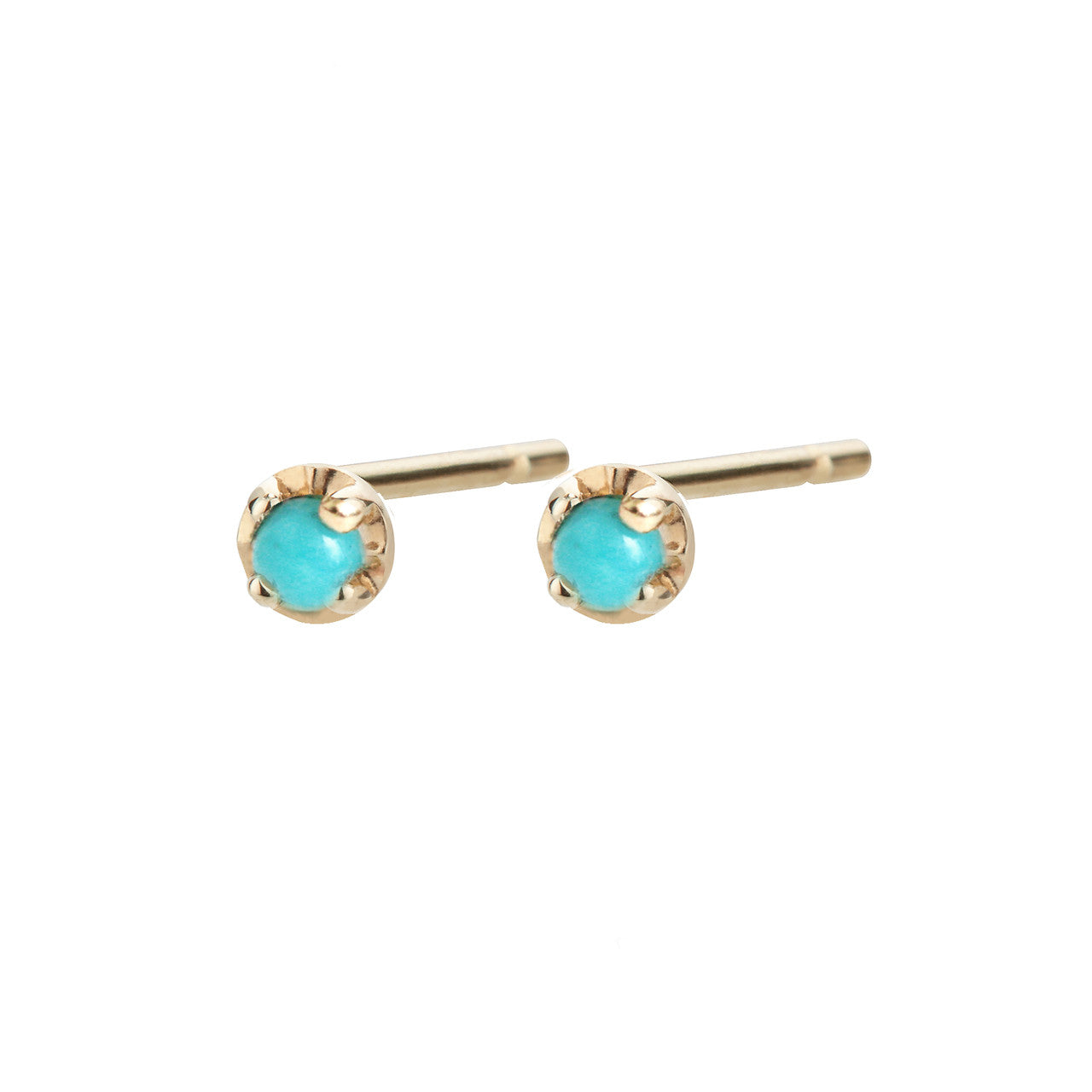 Prong Studs Small, Turquoise