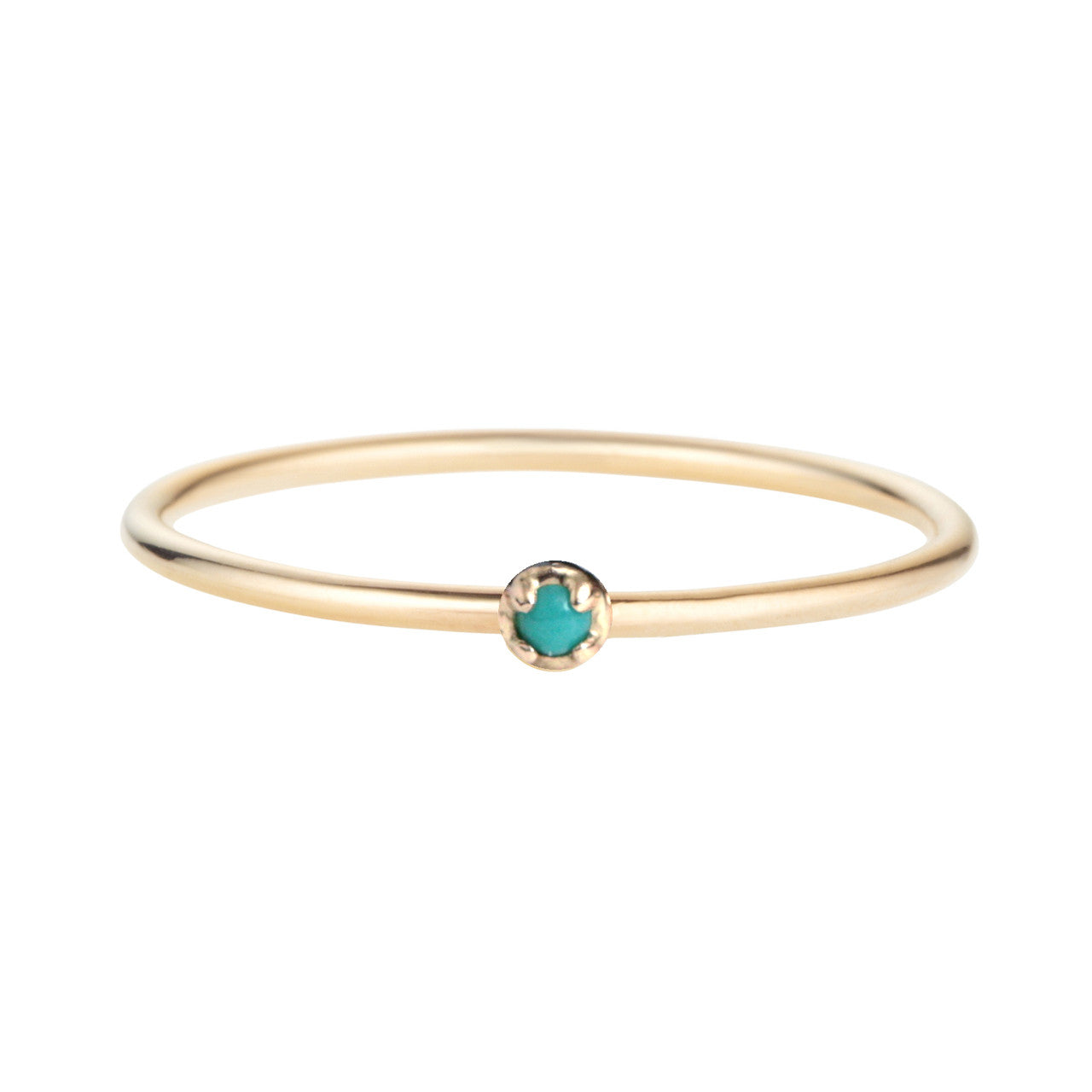 Prong Ring, Turquoise