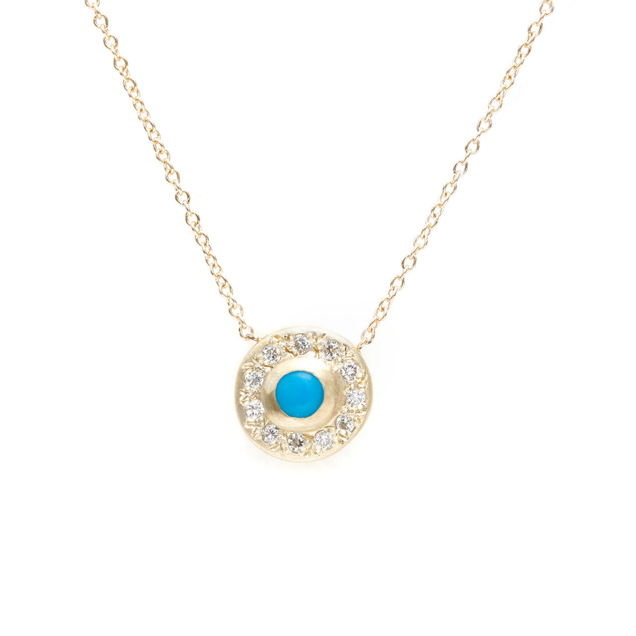 Moon Halo Necklace-Turquoise