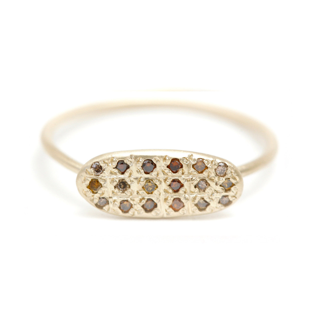 Autumn star grid ring