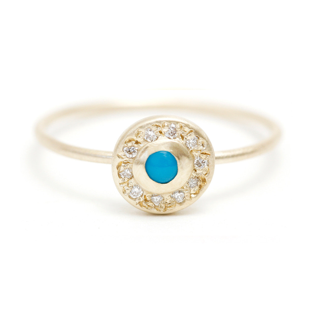 Moon Halo Ring, Turquoise