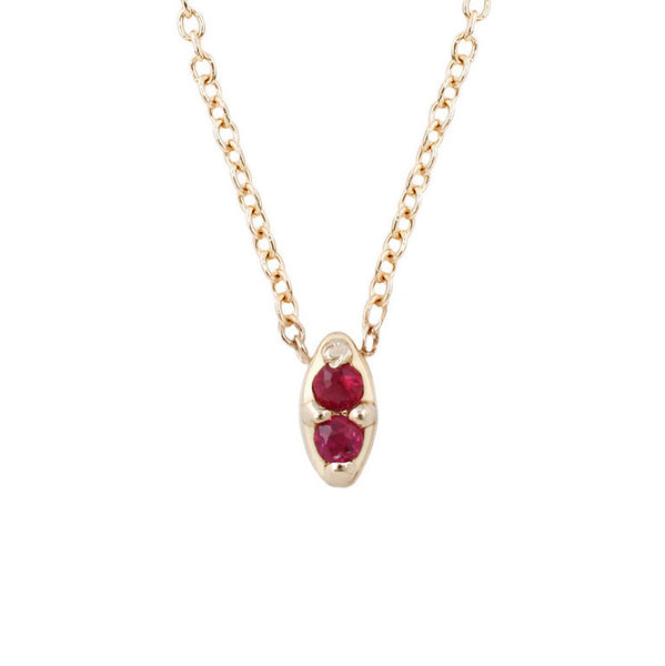 Duet Necklace-Ruby