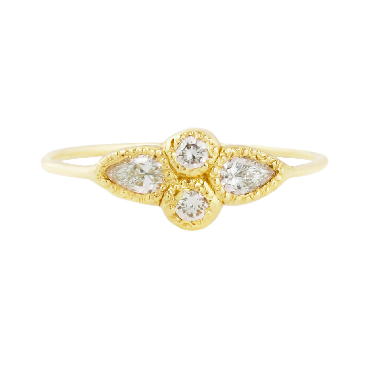 Mariposa ring white diamonds
