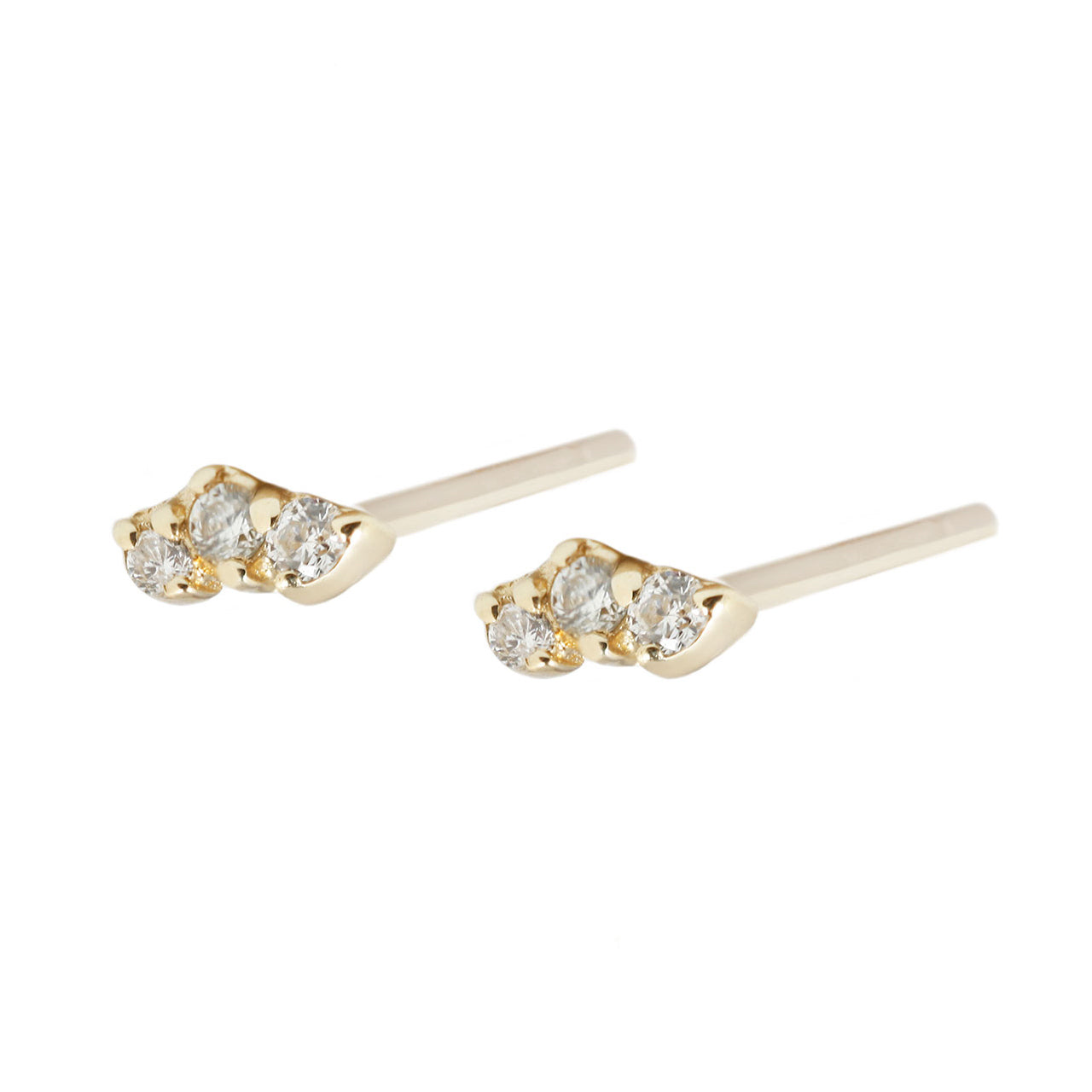 Trio studs white diamonds