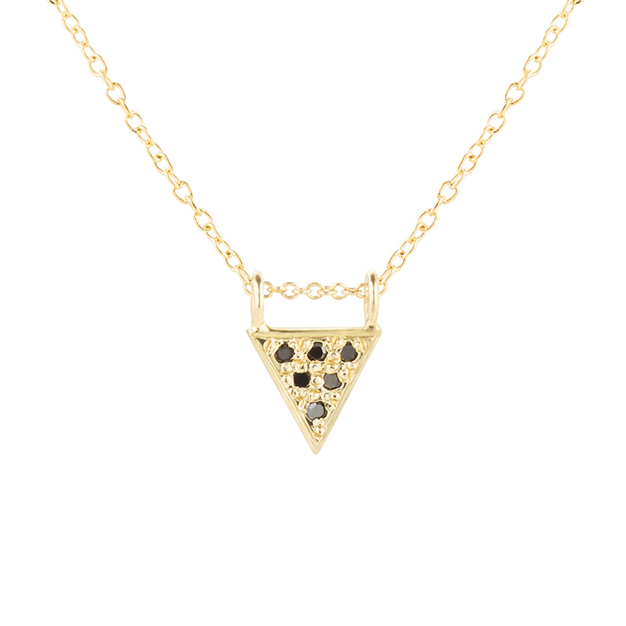 Triangle Deluxe Necklace, Black Diamonds