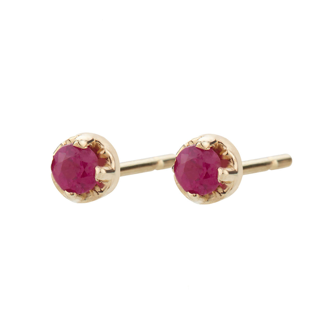 Large ruby prong studs