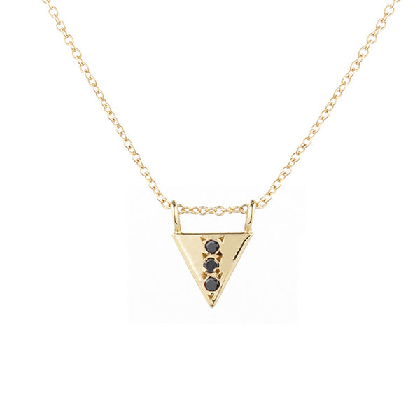 Triangle Drop Necklace, Black Diamond