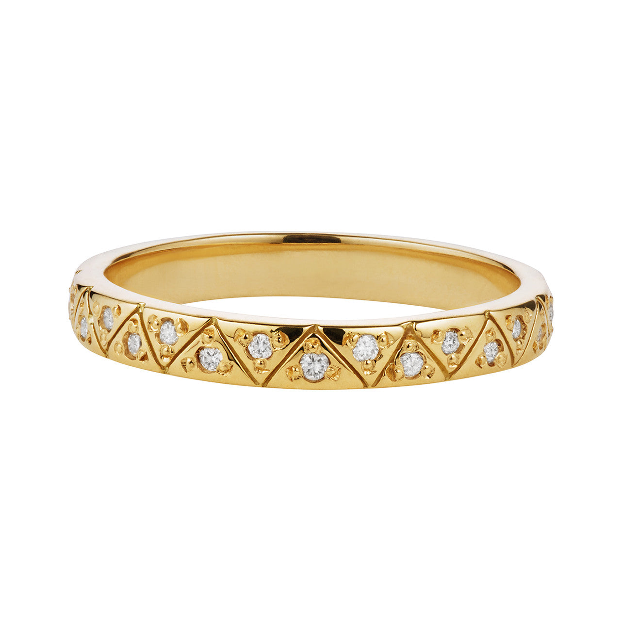 Gaia Eternity Band, White Diamonds