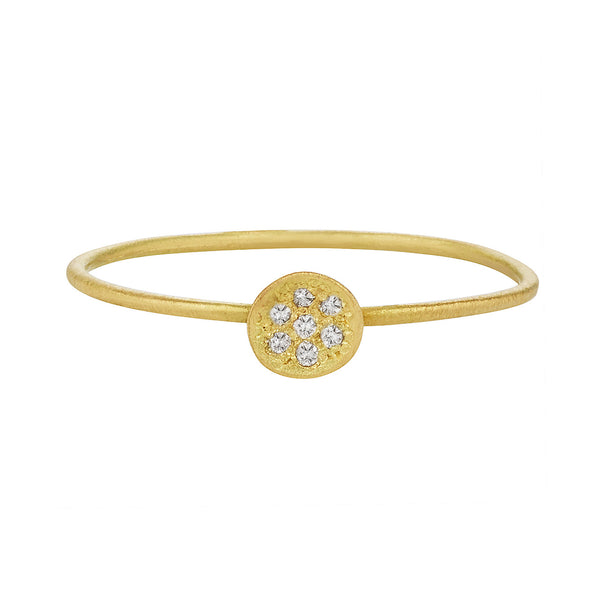 Starry night ring, white diamond