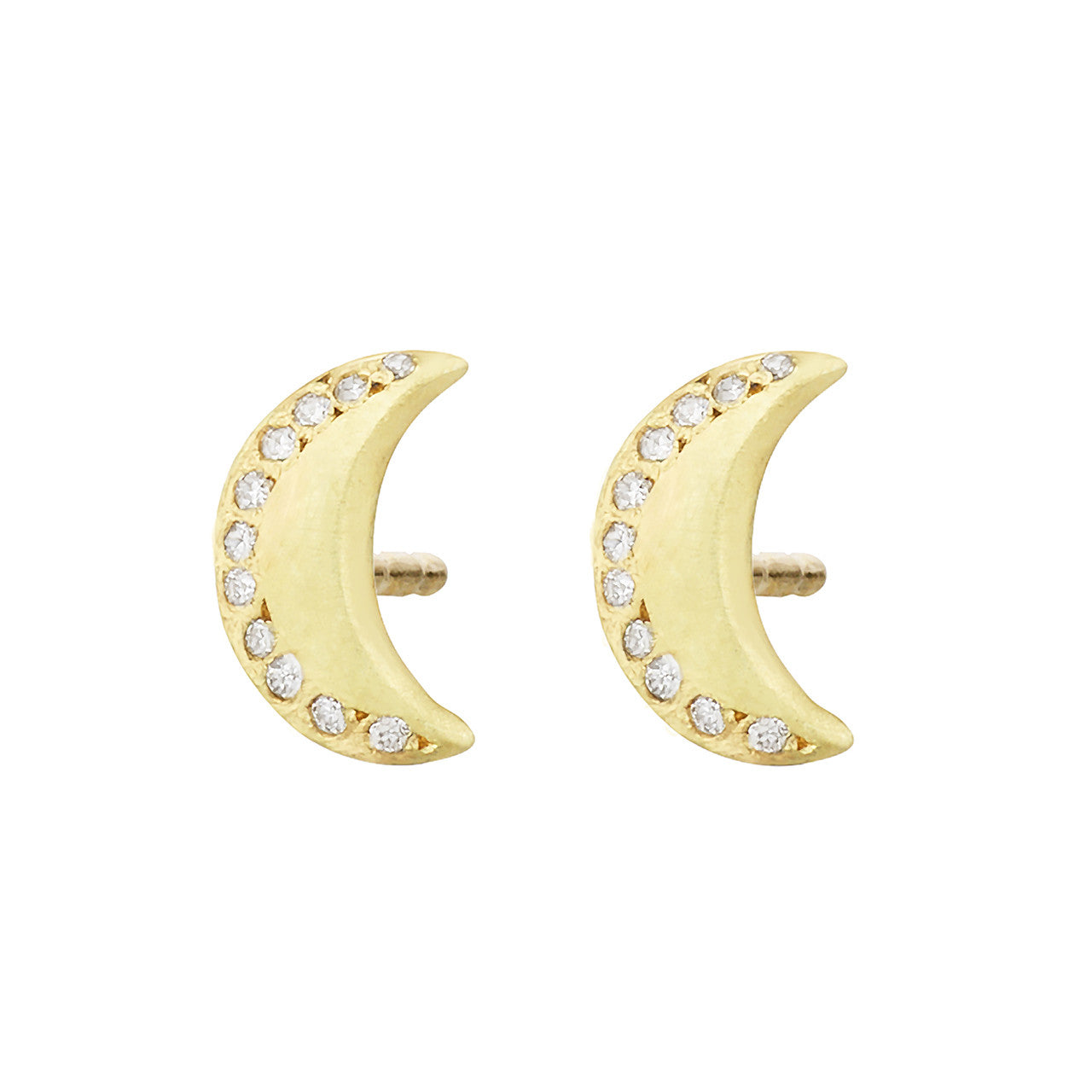 Queen of the Night Studs, White Diamond
