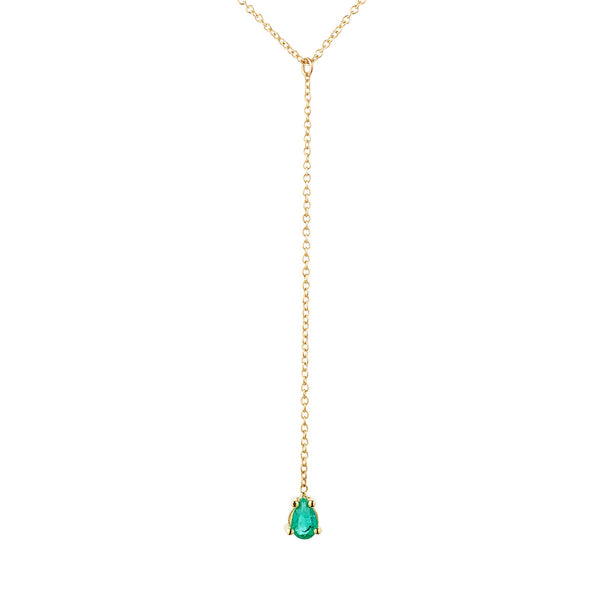 Emerald Lariat, Pear Shaped