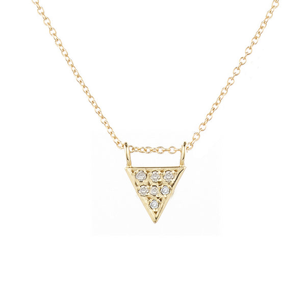 Triangle Deluxe Necklace, White Diamonds