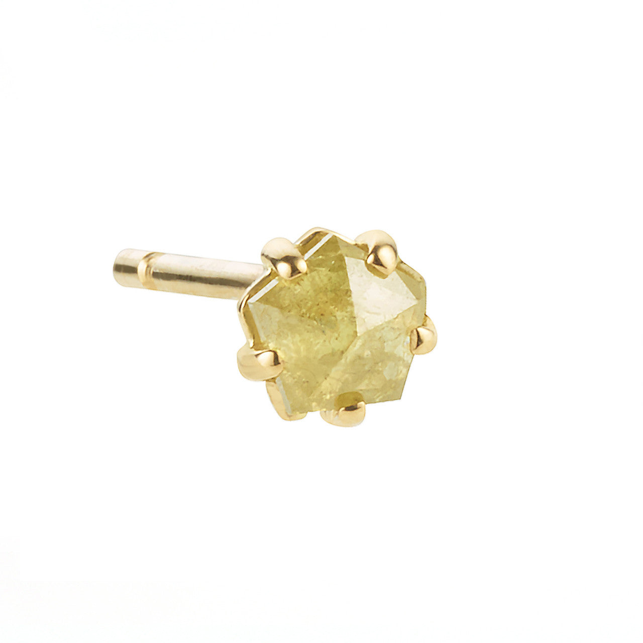 Rosecut Diamond Stud, Yellow