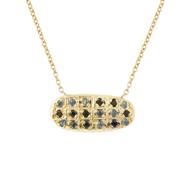 Blue Star Grid Necklace