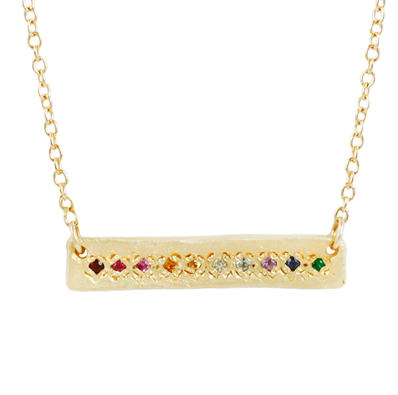 La Fortuna Necklace-Rainbow