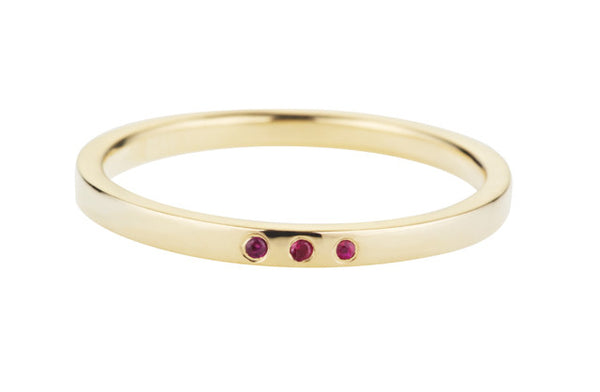Confetti Ring-Yellow Gold/Ruby