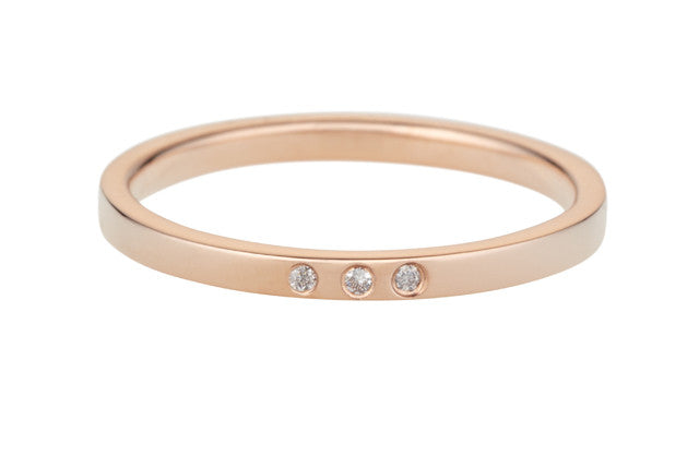 Confetti Ring-Rose Gold/White Diamond