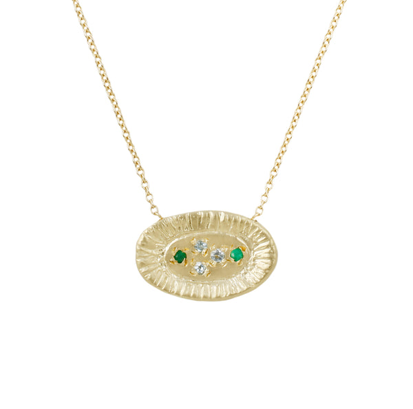 Sunburst necklace-emerald