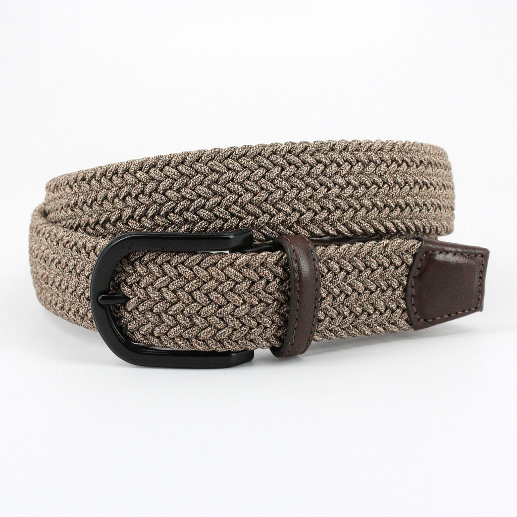 Torino Leather | Camel Woven Belt