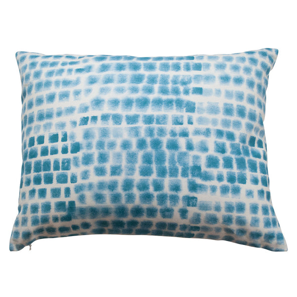 "Spotted Grid Pillow, size 20"" x 16"""