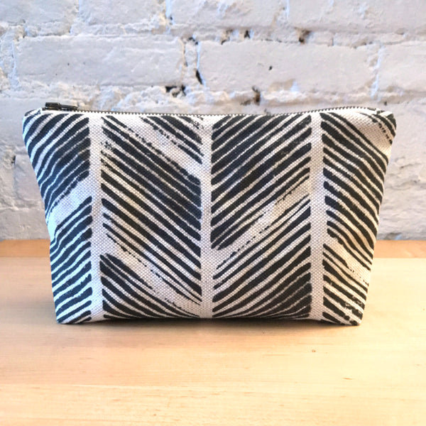 Chevron Arrow Ikat Zipper Pouch