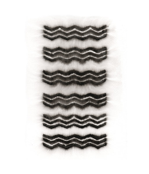 Triple Chevron Watery Block Print