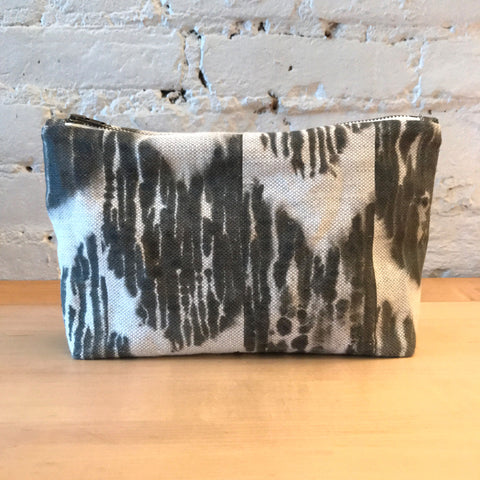 Drip Arrow Ikat Zipper Pouch