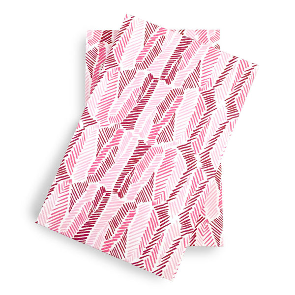 Graphic Feathers Refillable Memo Pad in Pink, Pen + Ink Collection
