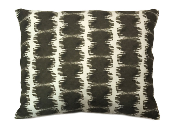 Soleil Ikat Stripe Pillow, in Ink