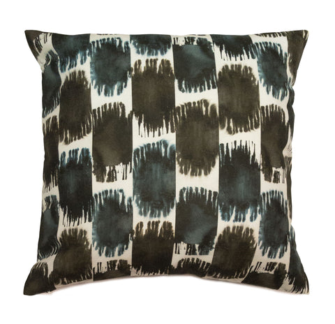 Soleil Ikat Pillow, in Indigo & Ink