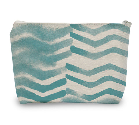 Soft Chevron Zipper Pouch