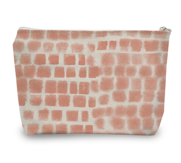 Spotted Grid Zipper Pouch